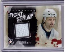 SHANE CORSON 11/12 ITG Enforcers Jersey Fight Strap #'d 1/8 *SP* FS13 FS-13