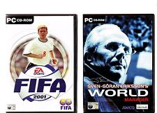 FIFA 2001 & SVEN-GORAN ERIKSSON'S WORLD MANAGER. 2 GREAT FOOTBALL GAMES FOR PC!!