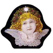 Angel stained glass fragment, stained glass, angel suncatcher, Christmas, cherub