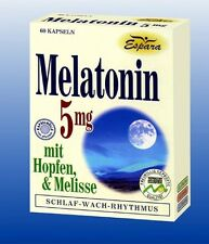 Melatonin 5 mg 60 Kapseln e19g   *  Vegen - Lactosefrei - Glutenfrei  *