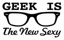 GEEK IS THE NEW SEXY Funny IRON ON T-shirt Transfer Retro Cool