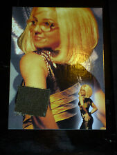 BRITNEY SPEARS ULTRA RARE AUTHENTIC COSTUME CARD BS3 GLOBAL DNA COA 2002