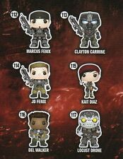"Funko GEARS OF WAR 6PC 3.75"" POP FIGURES DOUBLE BOXED! MARCUS JD KAIT DEL & MORE"