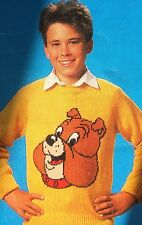 """Spike Bulldog  Jumper from """"Tom & Jerry""""  Knitting Pattern (child & adult size )"""