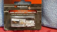 RADIO SHACK TELEPHONE HANDSET CORD UNTANLGER CONNECTOR 279-001 NEW IN PKG