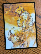 Magic the Gathering Basic Land MTG altered art Iron Giant Plains