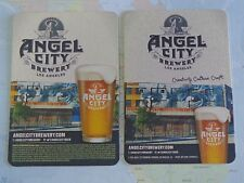 2 Cool Collectible Beer COASTERs ~ ANGEL CITY Brewery    Los Angeles, CALIFORNIA