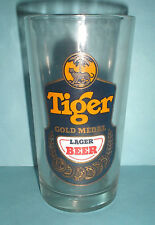 3 Pieces Vintage Collectible Tiger Beer Gold Medal Glass Cup New