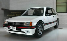 G LGB 1:24 Scale White Peugeot 205 1.9 GTI Very Detailed LEO Diecast Model Car