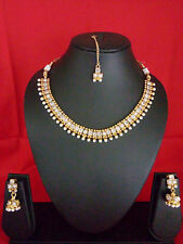 South Indian DISHI Fashion Bollywood gold plated Traditional Necklace Earing Set