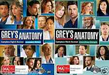 Grey's Anatomy COMPLETE Seasons 8 & 9 - NEW DVD
