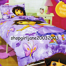 Dora the Explorer How Many Butterflies - Single/Twin Bed Quilt Doona Duvet Cover