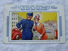 R059 'Spending a Penny -Not Buying Anything BAMFORTH COMIC No.687 Postcard c1951
