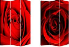 "72"" x 4FT  CLASSIC RED ROSES DRESSING SCREEN, ROOM DIVIDER."