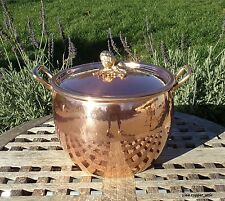 Ruffoni Hammered Copper 7.5 Qt Stock Pot, Artichoke finial, Made in Italy