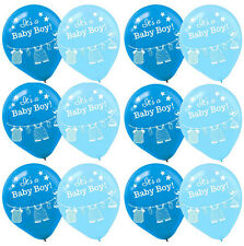 15ct.Shower with Love ~ Boy Baby Shower Latex Balloons ~ Party Supplies Favors