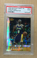 1996/97 BOWMAN'S BEST KOBE BRYANT ATOMIC REFRACTOR  ROOKIE CARD #R23 PSA MINT 9