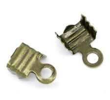 Lot 100 Embouts Cache Noeuds A Ecraser Metal Bronze 7mm x 4mm Creation Bijoux