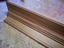 SOLID AFRICAN MAHOGANY 54 INCH HAND BUILT WALL SHELF, MANTEL, STAIN GRADE WOOD
