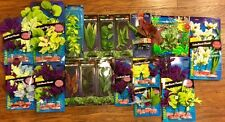 10 NEW AQUARIUM SILK PLANTS FISH TANK GRAVEL LOT COLORFUL DECORATIONS ANIMAL