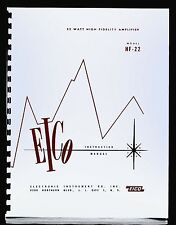 EICO Model HF-22 Hi-Fi Amplifier Operating and Construction Manual