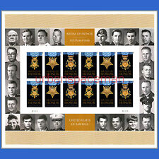 4988a Medal of Honor 2015 Army Navy Air Force Vietnam Imperf Folio 24 Stamps