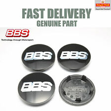 Genuine BBS Center Caps 76.5mm Black Porsche Application BBS SR NEW
