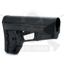 Black ACS Collapsible Polymer Buttstock Tactical Butt Stock w/ Battery Storage