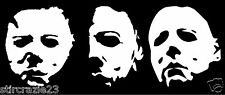 Set of 3 Michael Myers The Shape Halloween Horror vinyl decal stickers