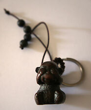 MONKEY KEY RING -  KEY RING WITH BRAIDED CORD AND BEADS 3 STYLES AVAILABLE