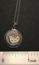 Hello Kitty Simmons Jewelry co. sterling silver CZ and enamel necklace