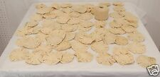 VINTAGE IVORY HAND CROCHET POPCORN STITCH LOT of 70 ROUNDS for making Bedspread