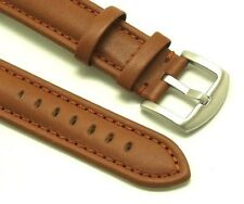 22mm Brown Leather Watch Replacement Strap Brushed Buckle - Tommy Hilfiger 22