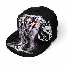 Og Abel 2 Of A Kind Poker Queen Tattoo Inked Punk Skater Snapback Hat Cap Blk