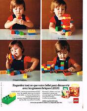 PUBLICITE ADVERTISING 054  1978  LEGO  jeux jouets 2