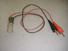 "120 Volt Test Light Tool Alligator Clips 24"" Wire Leads 6 Watt Lamp"