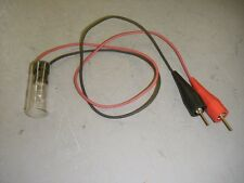 "120 Volt Test Light Tool Alligator Clips 24"" Wire Leads 6 Watt Lamp"