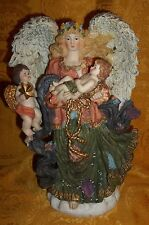 VINTAGE CHRISTMAS ANGEL FIGURE with Cherub