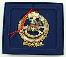 Vintage Gold White House 2003 Christmas Ornament Holiday Tree Decoration w/Box