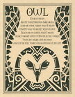 OWL PRAYER POSTER A4 SIZE Wicca Pagan Witch Witch Goth BOOK OF SHADOWS