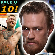 10 CONOR MCGREGOR PARTY CARD FACE MASKS UFC BIRTHDAY NIGHT OUT STAG #MP14