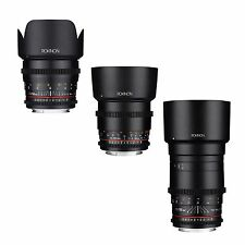 Rokinon Cine DS Telephoto Cine Lens Kit for Canon EF - 50mm + 85mm + 135mm