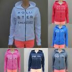 HOLLISTER GIRLS HOODIE Brooks Beach All Sizes NWT RED white GRAY blue PINK zip