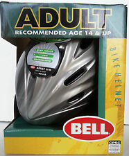 BELL SONAR ADULT BICYCLE HELMET S/M SILVER, 11 VENTS, HELMET STABILIZER. *NEW