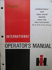 INTERNATIONAL HARVESTER 4600 Vibra Shank Cultivator Operator`s Manual Original