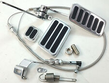 "Aluminum Gas Throttle Pedal Kit W/ 36"" Stainless Cable Brake Pad & Dimmer Pad"