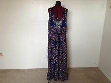 NEW CITY CHIC*Nordstrom's* 'Biba' Drawstring Maxi Dress*Marine Print*XL Plus 22W
