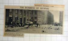 1940 The Bombing Of Helsinki, Debris In Residential District