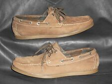 Clarks Mens Brown Nubuc/leather boat style casual oxford size 8.5M