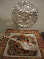 VERSACE TEA SPOON GREEK KEY SILVER Rosenthal HOLIDAY BABY GIFT AUTHENTIC SALE